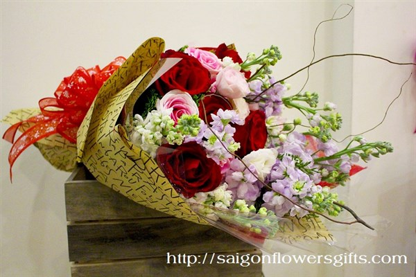 Bouquet for mothers day in saigon